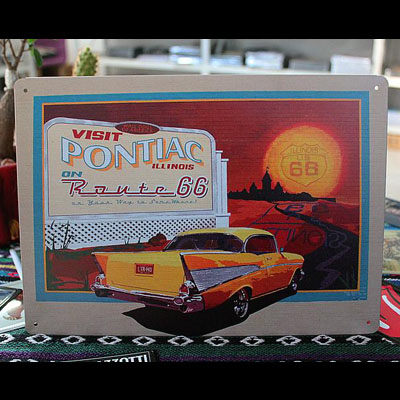 Tin-Metal-Home-Decor-Car-Sign-Pontiac-DT90