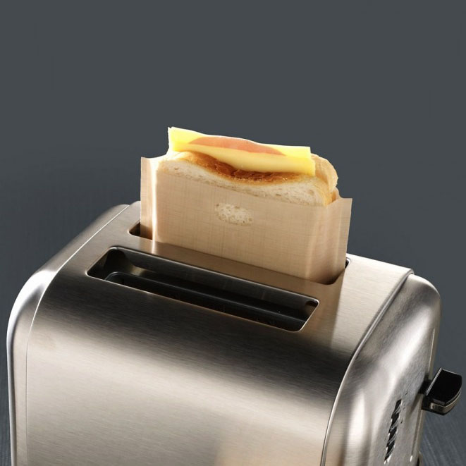 5x Reusable Toaster Toastie Sandwich Toast Bags Pockets
