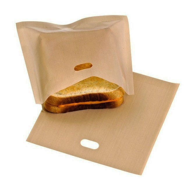 Details about 5X Reusable Toaster Toastie Sandwich Toast Bags Pockets ...