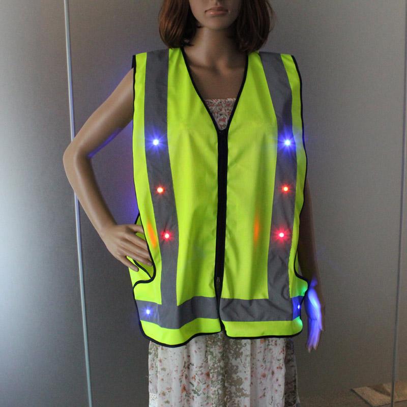 Hi Vis Reflective Tape Rechargeable Flashing LED Light