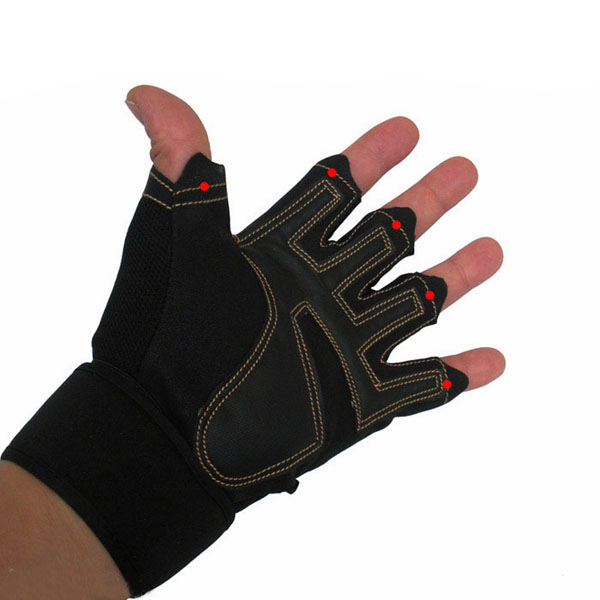 Gym Gloves Weight Lifting Leather Workout Wrist Support: Hot! Gym Gloves Weight Lifting Training Fitness Workout