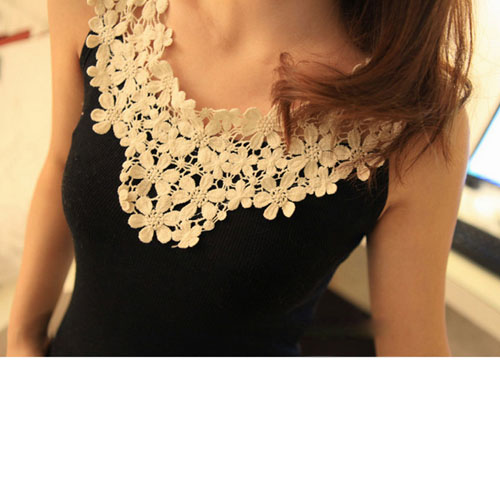Ladies Women Vest Tank Top Sleeveless thread And Lace Fashion Y022