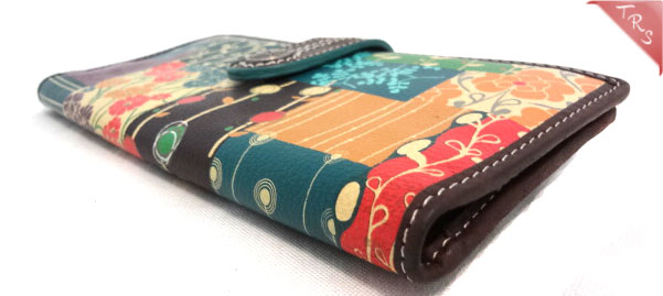 Dillards Mattress Sale FOSSIL Floral Square Patchwork Leather Tab Clutch Wallet, Multicolor