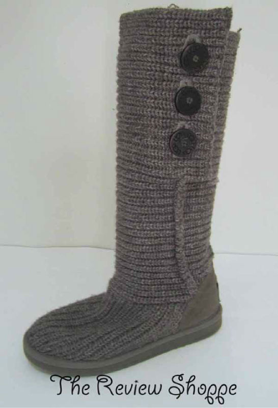ugg classic cardy cable knit knee high foldover slouch