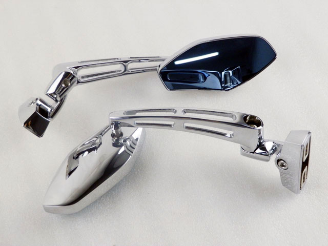 Purchase chrome motorcycle racing mirrors for yamaha yzf for Yamaha r6 aftermarket mirrors