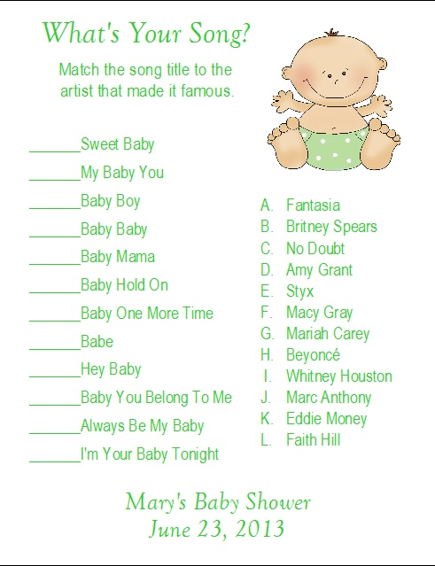 details about 24 personalized what 39 s your song baby shower game