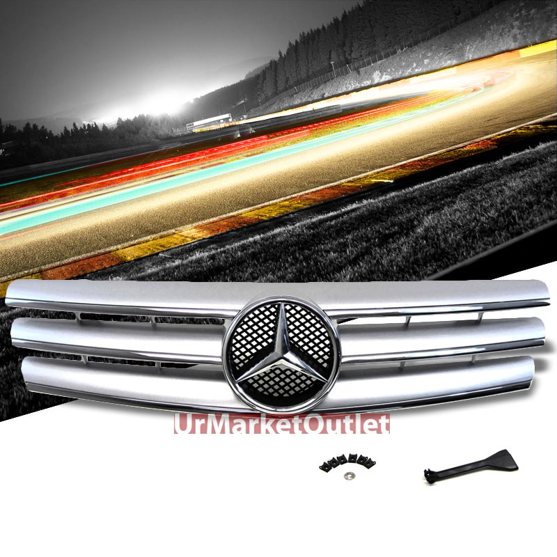 front silver cl style grille for benz sl class w129 r129 sl280 300 320 500 600 ebay. Black Bedroom Furniture Sets. Home Design Ideas