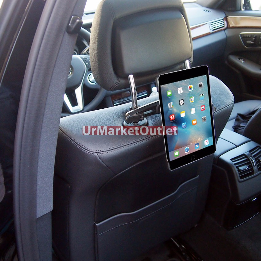Car/SUV Rear Seat Headrest Adjust Tablet Mount Holder For Apple iPad