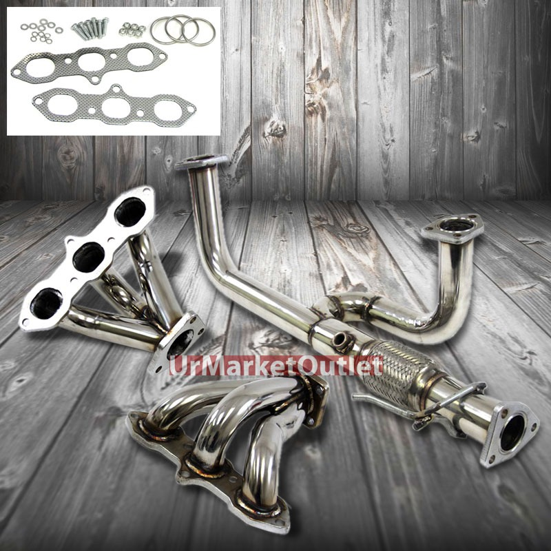 manzo 6 2 1 race manifold exhaust header for acura 99 03. Black Bedroom Furniture Sets. Home Design Ideas