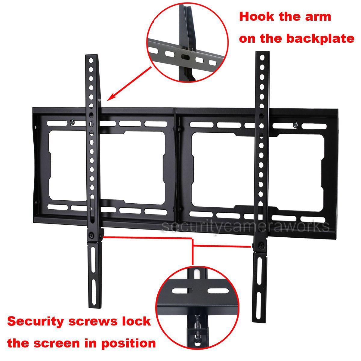 ultra slim tv wall mount for lg samsung sharp vizio 32 70 lcd led plasma b35 ebay. Black Bedroom Furniture Sets. Home Design Ideas