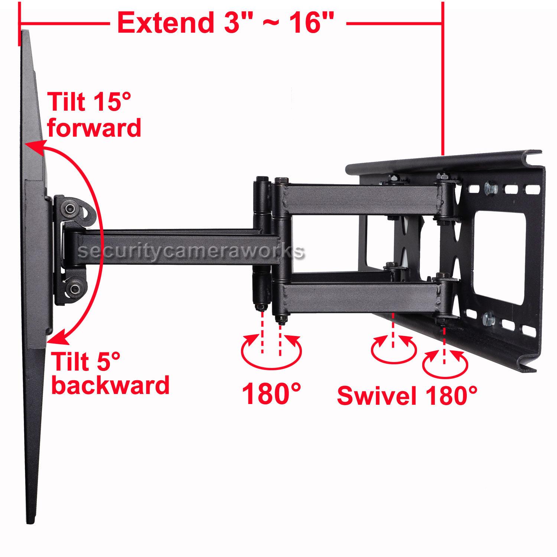 Full Motion Tilt Swivel TV Wall Mount 32 39 40 42 46 50 55 LCD Plasma 60 LED BK7