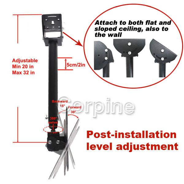 Tilt Swivel Plasma LCD LED TV Ceiling Mount 23 24 26 27 30 32 37 40 42 45 46 1GZ