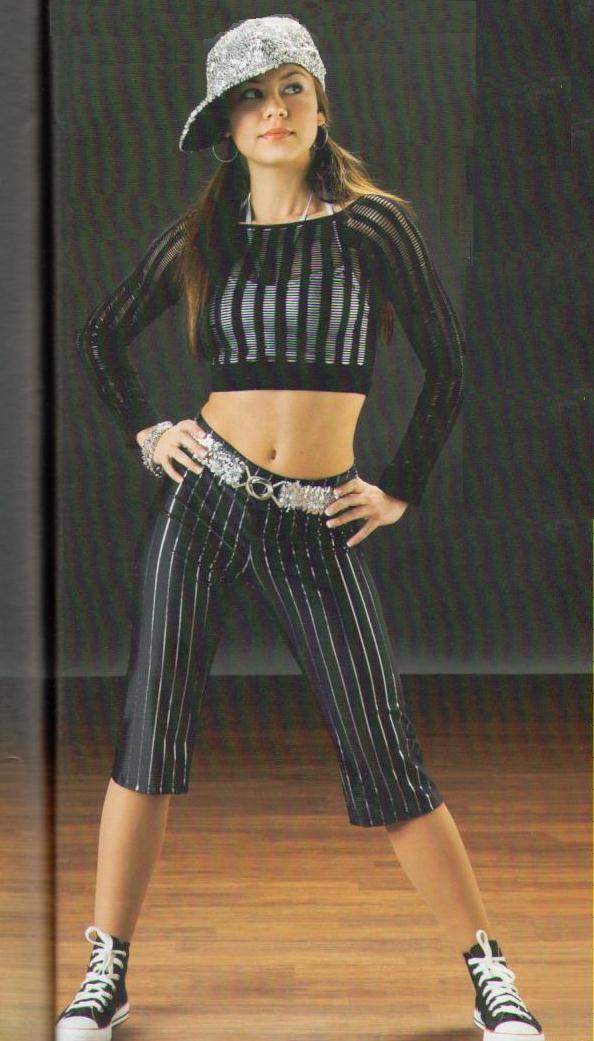 Street Wise Dance Costume TopBraBeltCapris Hip Hop Jazz Tap ALXL Clearance | EBay