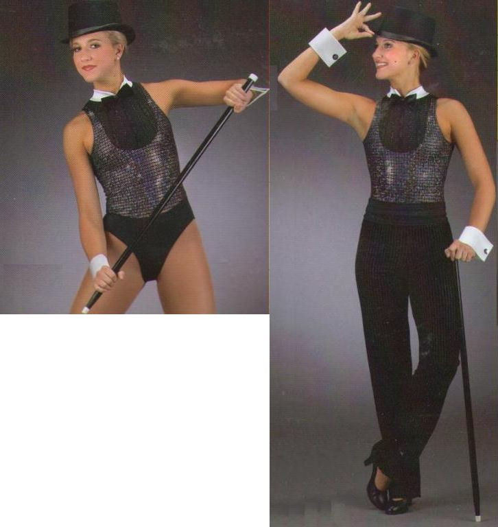 Heat Wave Dance Costume Baton Tap LEOTARD and CROP PANTS AS and AXXL New
