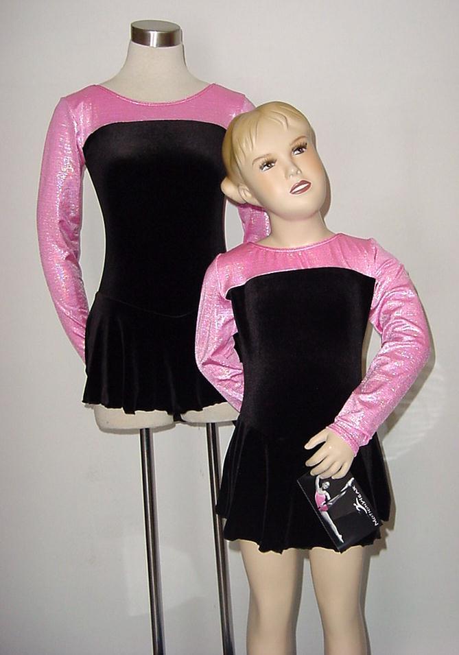 IMAGINE-Ice-Skating-Foil-Velvet-Dress-Dance-Costume-Child-Large-Last-One-NEW