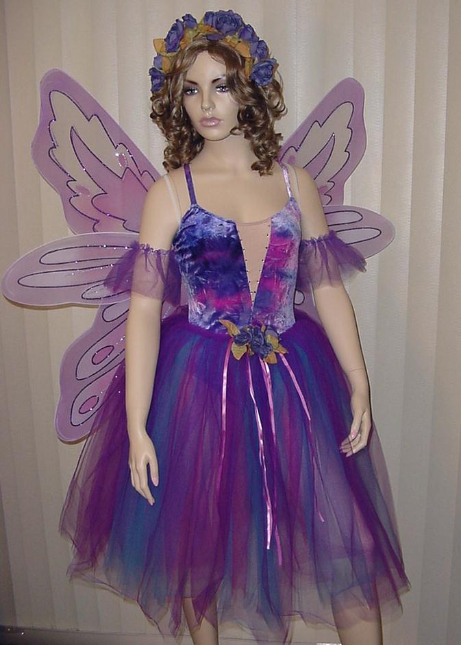 Sugar plum fairy x mas dress w wings purple haze dance costume child