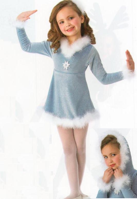 SLEIGH-RIDE-Pageant-Ice-Skating-Christmas-Dance-Costume-Child-X-Small-Fits-2-3yr