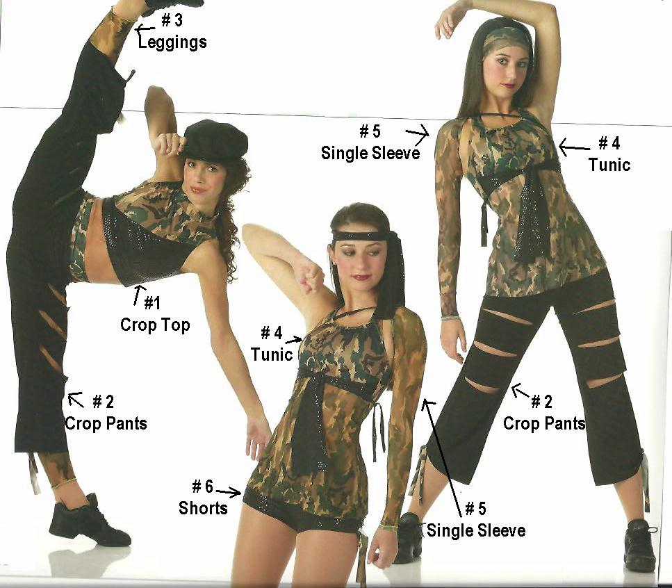 Camouflage Dance Costumes