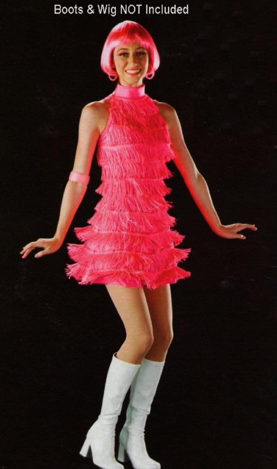 THE TWIST Dance Costume Fringe Flapper GoGo Dress Jazz Tap Adult Small ...