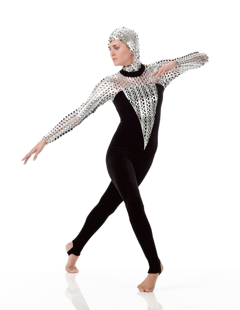 Extraterrestrial Stirrup Unitard Acro Ice Skating Dance Costume Image Loading