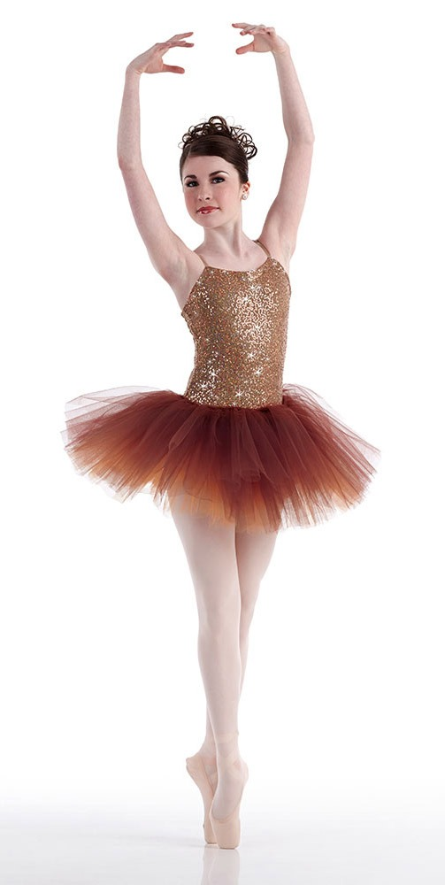 PRIMA Copper Sparkle Ballet Ballerina Tutu Christmas Dance Costume Child u0026 Adult