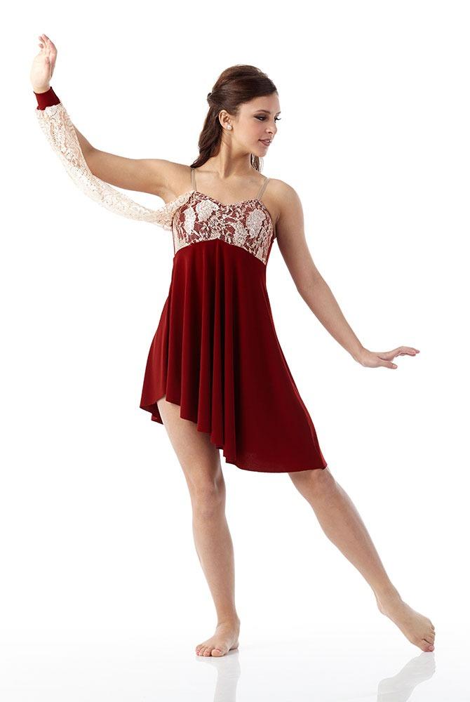 Romance Lyrical Dress Ballet Ice Skating Dance Costume