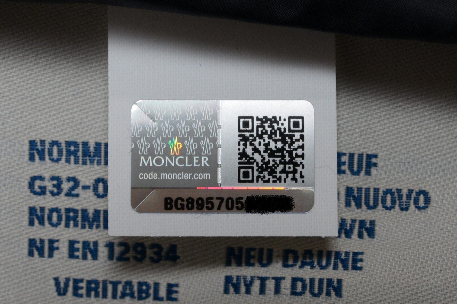 check moncler authenticity code