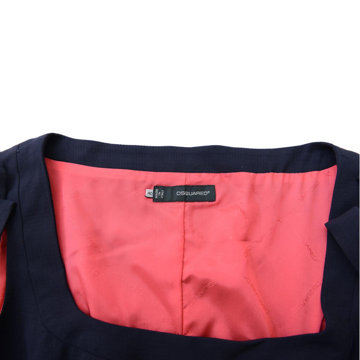 dsquared dark blue knee length dress us s eu 40 retail value 6 25 our
