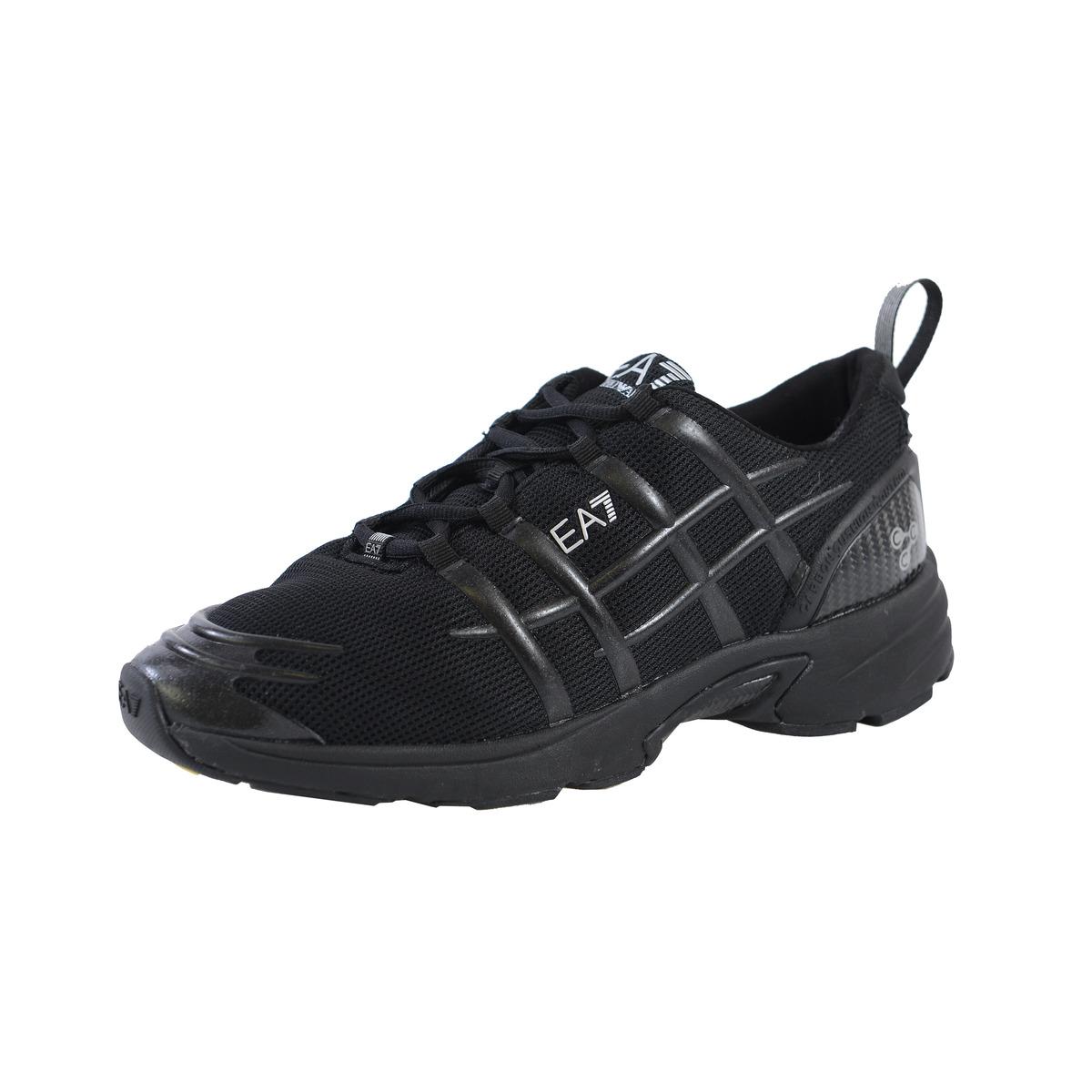 Разноцветные кожаные кроссовки без шнуровки с абстрактным принтом от ea7 emporio armani.