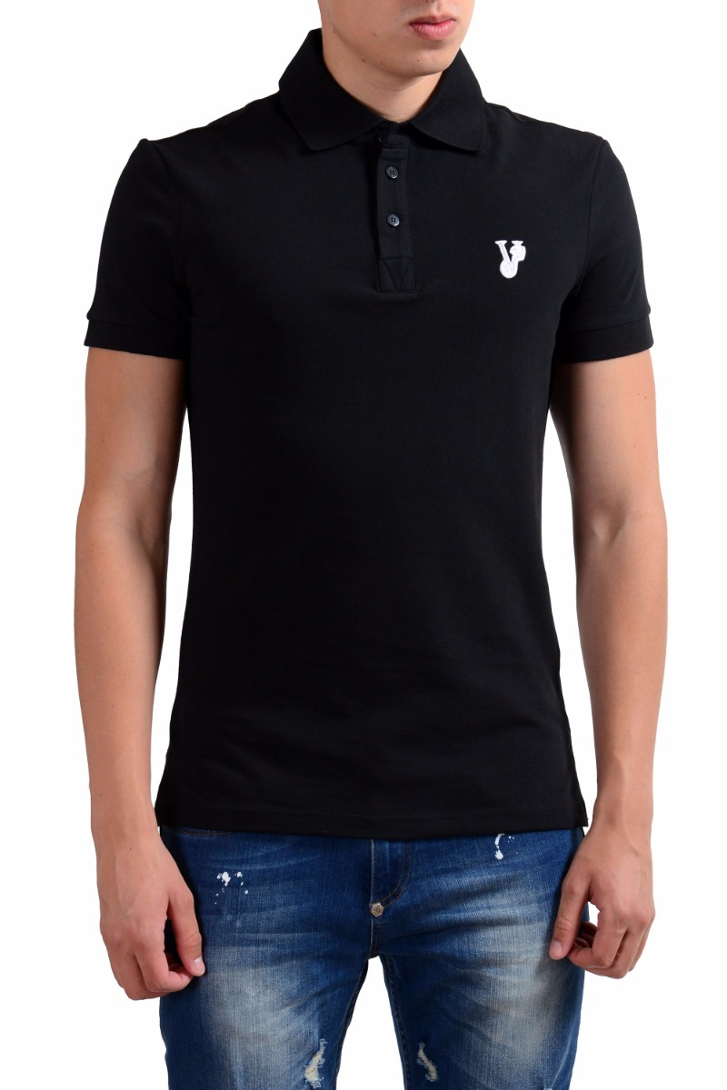 Versace Jeans Men's Short Sleeve Black Polo Shirt Size XS S L XL