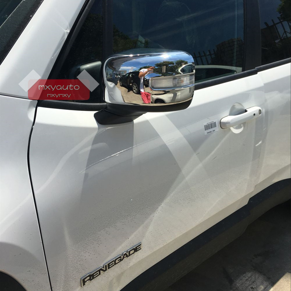 Civic 4dr sedan chrome lower door trim garnish 2016 2017 ebay - New Abs Chrome Door Mirror Molding Cover Trim For Jeep Renegade 2015 2016