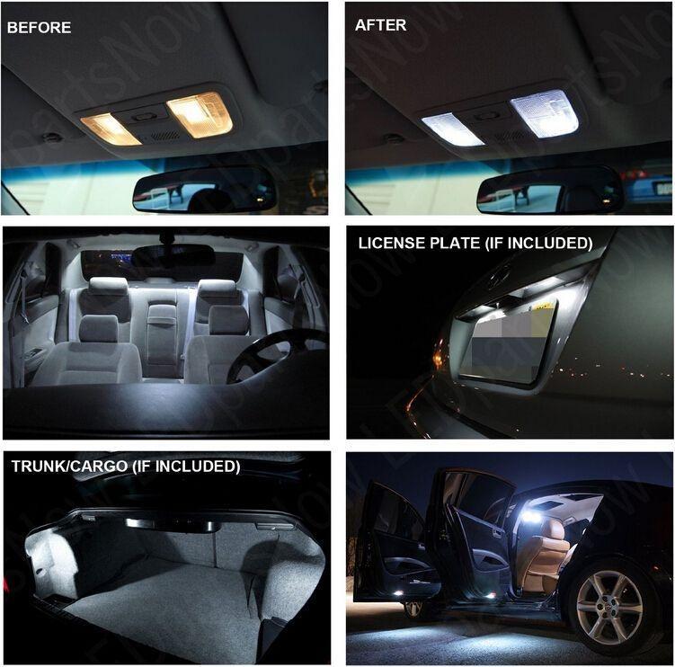 17 pcs white car led interior lights package kit for 2011 2014 dodge charger ebay. Black Bedroom Furniture Sets. Home Design Ideas