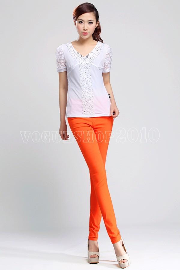 Hot-Women-039-s-High-Waist-Stretchy-Skinny-Leggings-Pencil-Pants-Trousers-Free-Ship