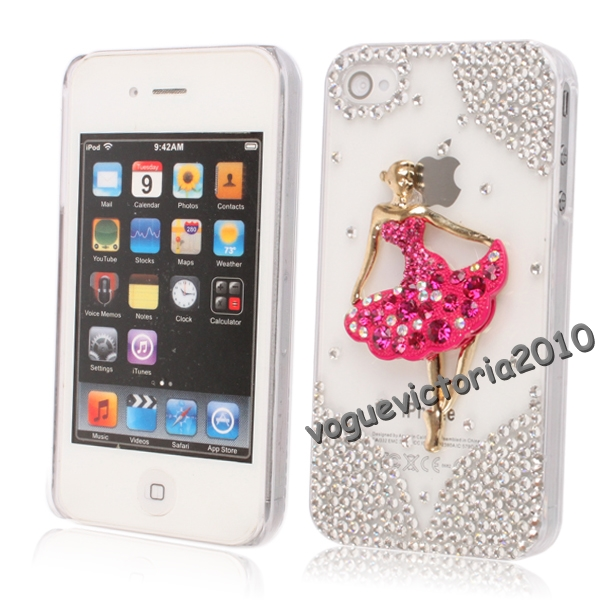 iphone 4 4s bling case h lle schutzh lle glitzer silber. Black Bedroom Furniture Sets. Home Design Ideas