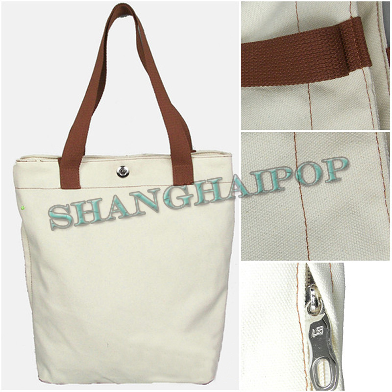 Blank shopping bag canvas shoulder tote shopper diy hand for Diy blank canvas