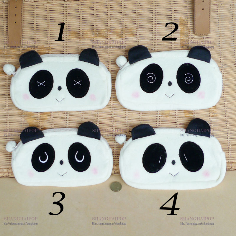 8-Panda-Makeup-Pouch-Cosmetic-Toiletry-Case-Travel-Purse-Fleece-Bag-Animal-New
