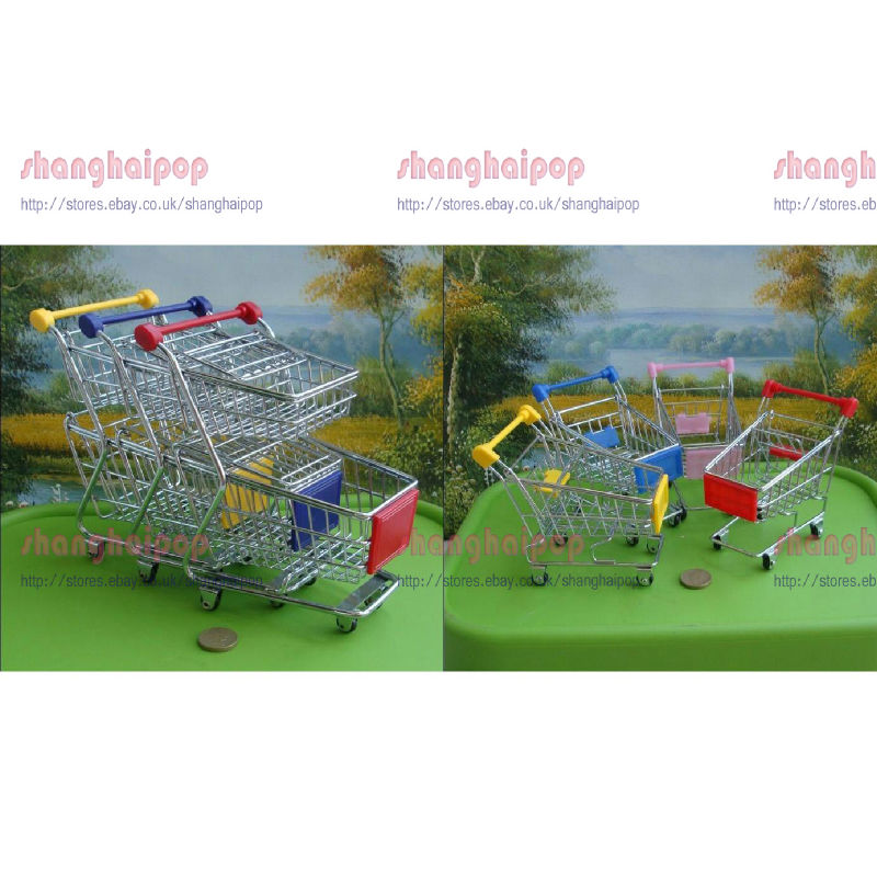 Shopping-Cart-Desk-Organizer-Stationary-Holder-Toy-Mini