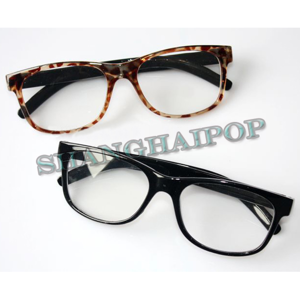 Girls Clear Lens Fashion Glasses Black Leopard Clear Lens