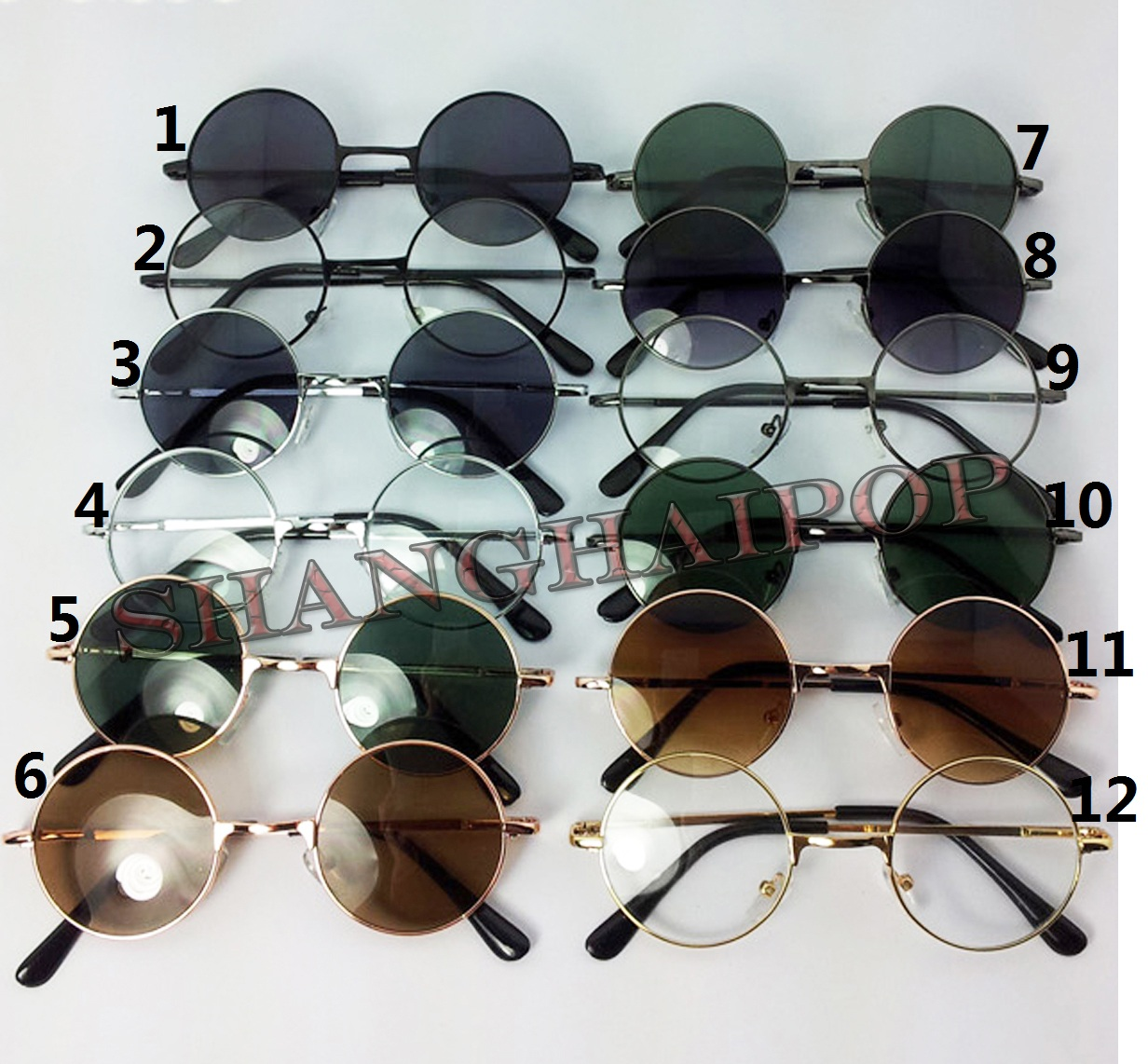 Penny-Round-Glasses-Sunglasses-Clear-Dark-Lens-Shades-Sunnies-John-Lennon-Small