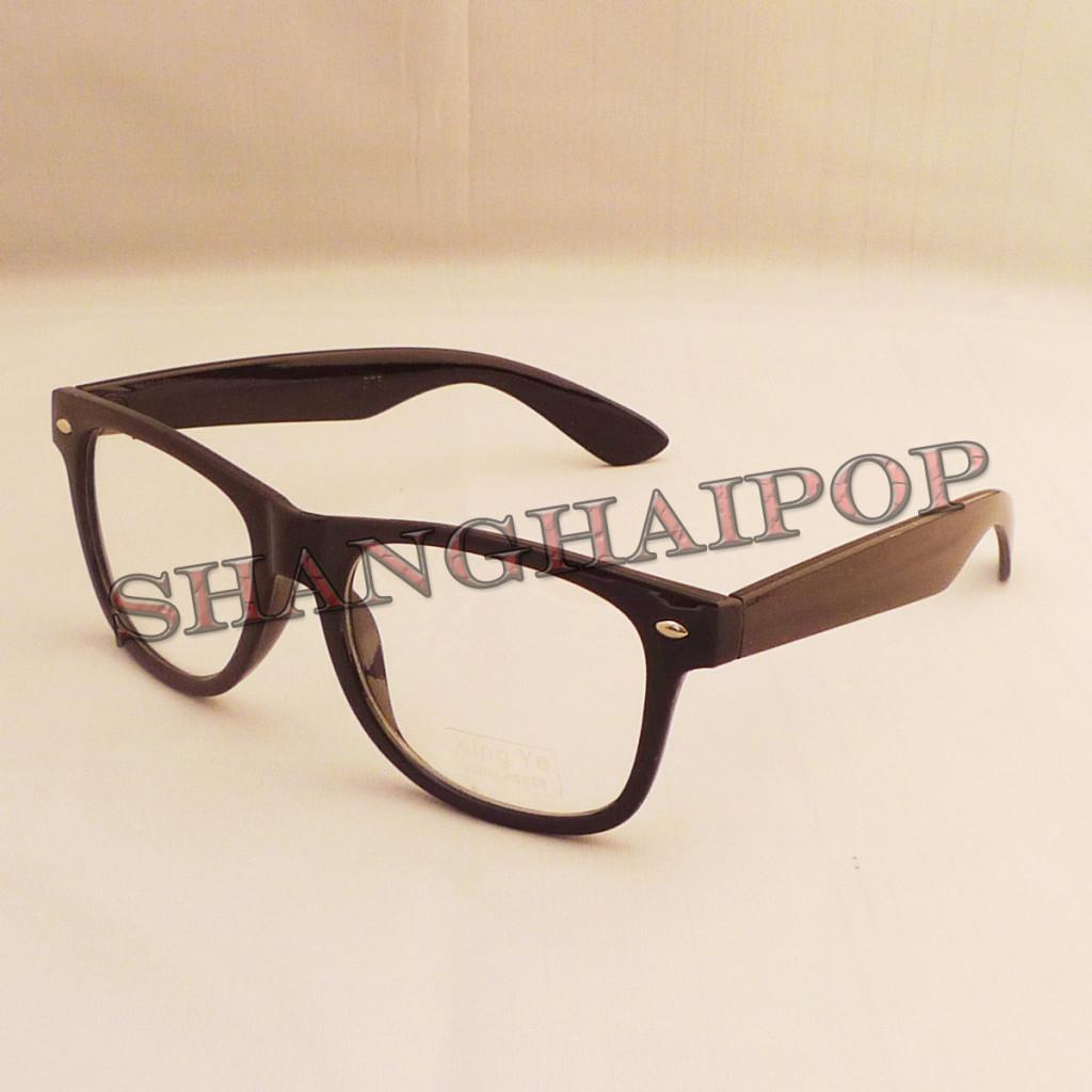 Black Frame Clear Lens Fashion Glasses Wayfarer Vintage ...