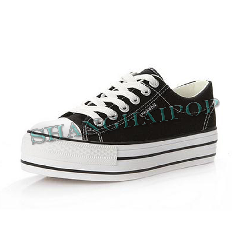 Women-Trainers-Canvas-Lace-Up-Plimsolls-Low-Top-Platform-Shoes-Pump-Flat-Sneaker