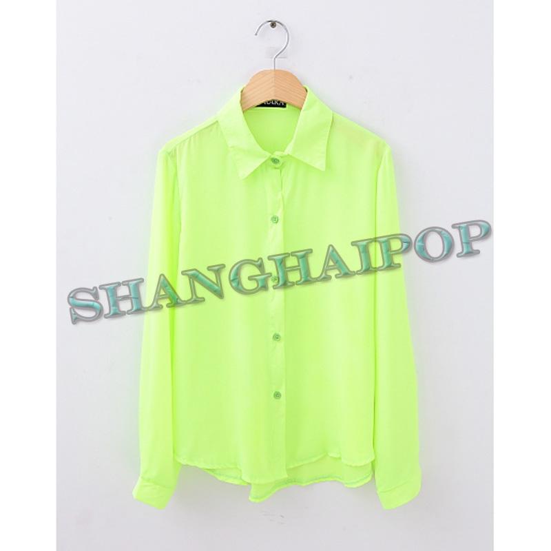 Green Chiffon Blouse