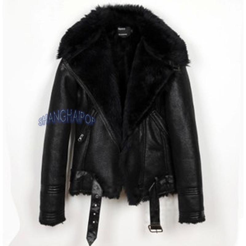 White leather jacket with black fur – Novelties of modern fashion ...