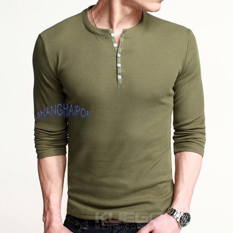 Button Long Sleeve T Shirt | Is Shirt
