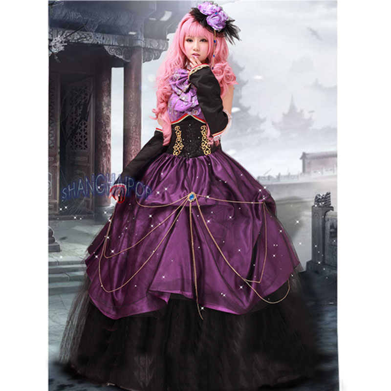 Ball Gown Anime Dress Quinceanera Prom Maxi Bead Organza Fancy ...