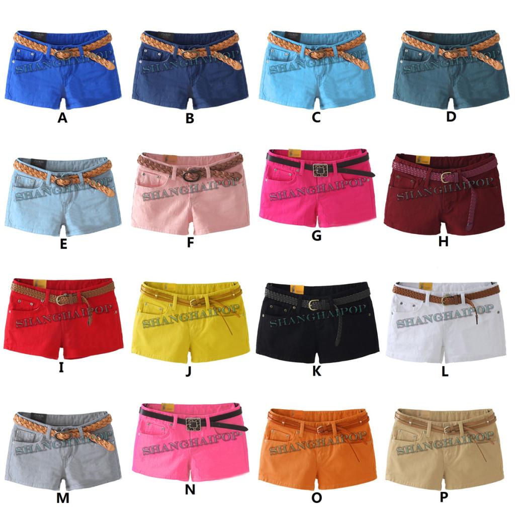 Denim-Hot-Pants-Short-Women-Low-Waist-Jeans-Sexy-Lady-UK-Size-8-to-16-Multicolor