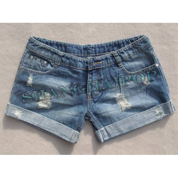 Ladies Denim Jeans Shorts Turnup Blue Hot Pants Ripped Women New UK Size 10-16 | eBay
