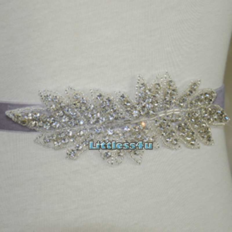 wedding dress sash belt diamante bead