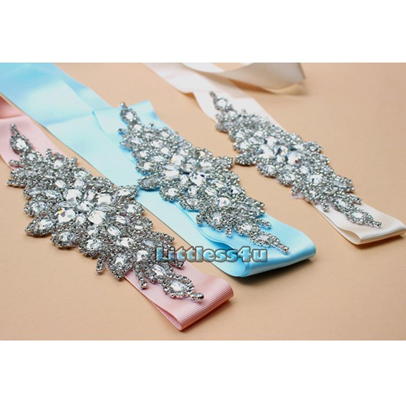 flower wedding dress sash belt diamante