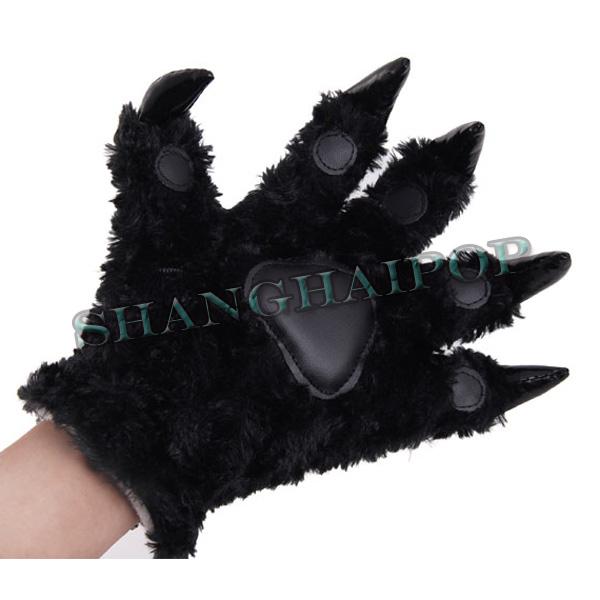 Panda-Dinosaur-Gloves-Cosplay-Anime-Animal-Claw-Plush-Paw-Bear-Costume
